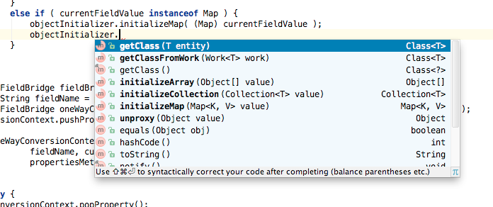 IntelliJ IDEA smarter autocompletion